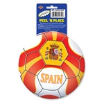 Spain Soccer Ball Peel 'N Place (1/Sheet)