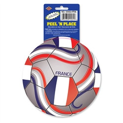 France Soccer Ball Peel 'N Place (1/Sheet)