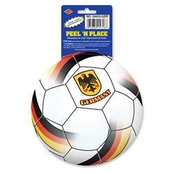 Germany Soccer Ball Peel 'N Place (1/Sheet)