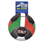 Italy Soccer Ball Peel 'N Place (1/Sheet)