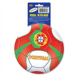 Portugal Soccer Ball Peel 'N Place (1/Sheet)