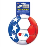 United States Soccer Ball Peel 'N Place (1/Sheet)
