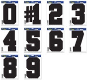 Black Peel N Place Number (choose number)