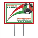 Italy Soccer Plastic Yard Sign