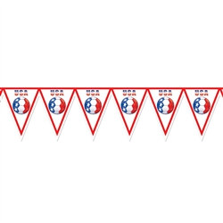 United States Soccer Pennant Banner
