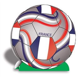 France Soccer 3-D Centerpiece