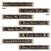 Pirate Street Sign Cutouts (4/pkg)