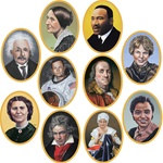 Faces In History Cutouts (10/pkg)