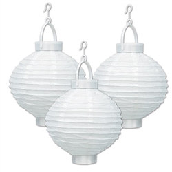 Light-Up Paper Lanterns (White)