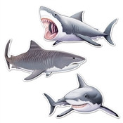 Shark Cutouts (3/Pkg)