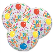 Happy Birthday Paper Lanterns (3/Pkg)