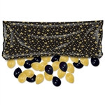 Pkgd Plastic Balloon Bag- Black and Gold (balloons NOT included)