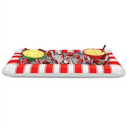 Inflatable Red&White Stripes Buffet Clr