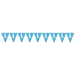 1st Birthday Pennant Banner (Blue)