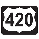 420 Highway Sign Cutout