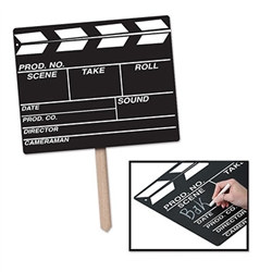 Chalkboard Clapboard Yard Sign