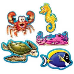 Mini Under The Sea Cutouts (10/pkg)