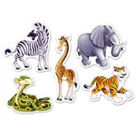 Mini Jungle Animal Cutouts (10 per pkg)