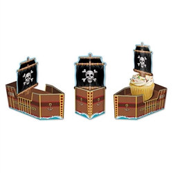 Pirate Ship Favor Boxes (3/pkg)
