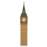 Measuring over 5 1/2 feet tall, this card stock cutout of the Big Ben clock tower will command attention on your wall. It is printed in striking detail on both sides and comes jointed and completely assembled. Will not tell time, and is not free standing.