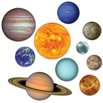 Solar system cutouts are out of this world for the classroom or party venue!