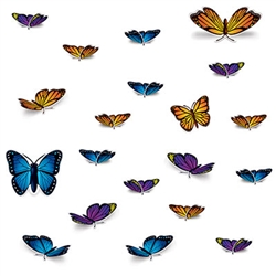 Welcome in the warm spring air or decorate your house on a summer day with these colorful Butterfly Cutouts.