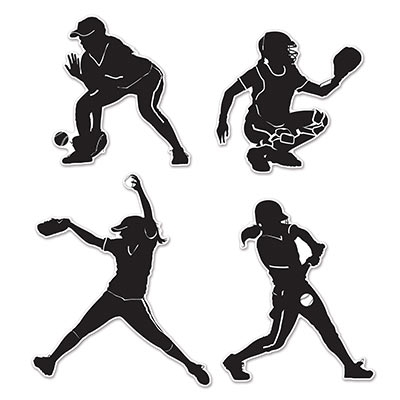 softball silhouette cutouts partycheap