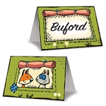 Let your fellow outdoorsy folk know where he/she will be sitting at the party with these Woodland Friends Place Cards. Each place card measures 4.25 inches and has two woodland friends looking at each other on the opposite side. Comes eight per package.
