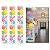 The Balloon Party Panels are made of thin clear plastic with a variety of colorful balloons printed on them. They measure 12 inches wide and 6 feet long. Contains 3 panels per package.