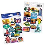 The Passport Stickers consist of different cities around the world. They are vibrant and can be used to decorate whatever you want! 2 sheets per package. A total of 24 stickers.
