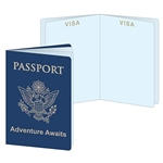 The Around The World Passports are made of cardstock. They have blank pages so you can use them for a variety of different things! Measure 3 1/5 inches wide and 5 inches tall. Contains four (4) per package.