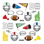 Just pick your prop and hold it to your face and you will create memories that last a lifetime. The Football Photo Fun Signs are made of cardstock and printed on both sides. Sizes range from 5 inches to 10.75 inches. Contains 12 pieces per package.