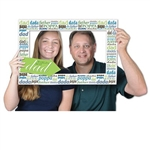 Celebrate your dad with the Father's Day Photo Fun Frame! Made of cardstock and measures 15.5 inches by 23.5 inches. Each package contains two hand held props and one frame prop. Each hand held prop has a different design on each side.