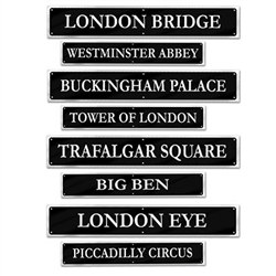 British Street Sign Cutouts