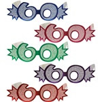 60th Glittered Eyeglasses (1/Pkg)