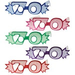 70th Glittered Eyeglasses (1/Pkg)