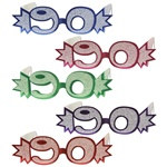 90th Glittered Eyeglasses (1/Pkg)