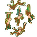 Mini Monkey Cutouts