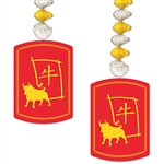 2021 is the year of the OX, and you'll be ready to celebrate with these 2021 Year Of The Ox Danglers>