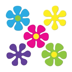 Mini Retro Flower Cutouts