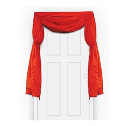Add color to your birthday, circus theme party, or holiday party with the Fabric Red Curtain/Bunting! It measures 12 feet long and has adjustable drawstrings. Can be used indoors and outdoors. Contains one (1) per package.