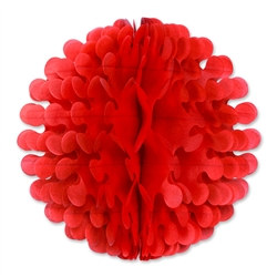 Red Tissue Flutter Ball, 19 Inches