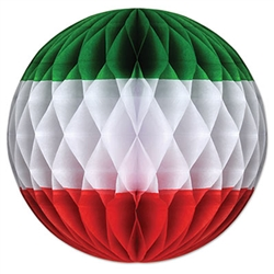 Red, White, and Green Art-Tissue Ball