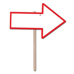 Red Blank Arrow Yard Sign