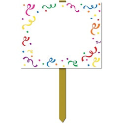 Blank Confetti Yard Sign