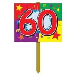 60th Birthday Yard Sign