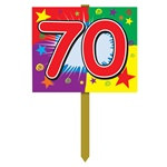 70th Birthday Yard Sign