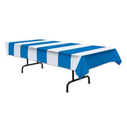 Blue & White Stripes Tablecover