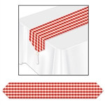 Printed Gingham Table Runner