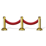 Add a touch of glam to the party by placing this Stanchion Centerpiece at all of the tables at your red carpet party or awards night. It will stand by itself and command plenty of attention from the attendees. It measures 36 inches long by 12 inches tall
